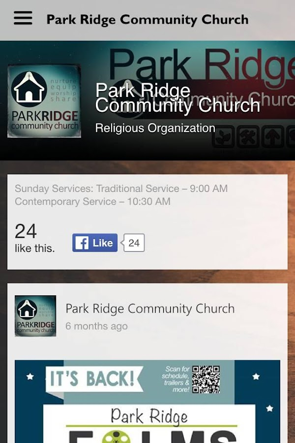Park Ridge Community Church- screenshot