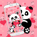 Pink Heart Panda Love Theme🐼 icon