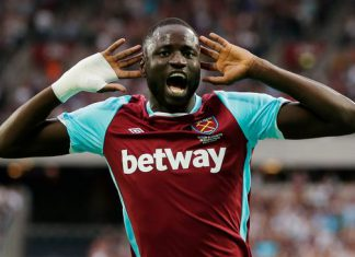 Cheikhou Kouyate of West Ham and Senegal.
