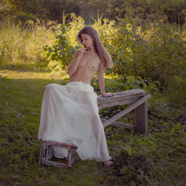 Summer Study by Dmitry Laudin - Nudes & Boudoir Artistic Nude ( beautiful, dress, warm, grass, nude, girl, body, summer )