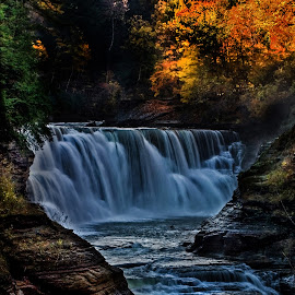 Colorful water by Paul Drajem - Landscapes Waterscapes ( seascape, waterfalls, natural, nature, stream, waterscape, letchworth, river, autumn, state park, water, landscape,  )