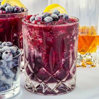 Blueberry Rum Slush.