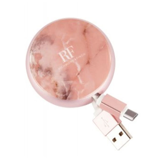 Richmond & Finch Cable Winder Type C To USB Cable Pink Marble
