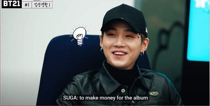 Suga decided to make Money for 2020 Version of BT21