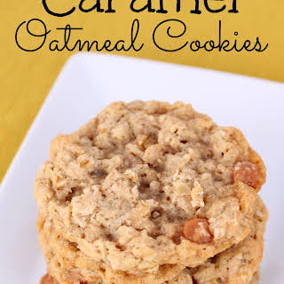 Caramel Oatmeal Cookies.