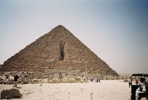 Egypt, Mycernes Pyramid At Giza