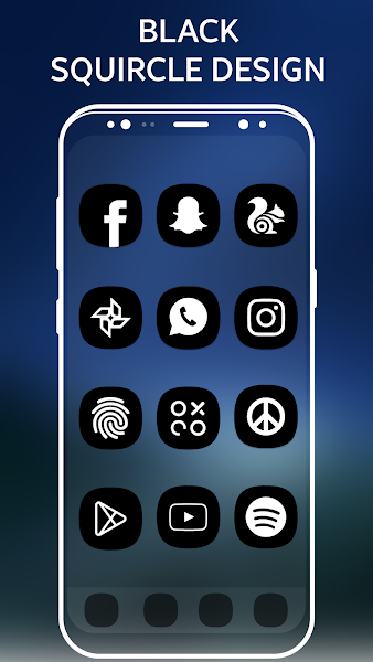 S8 Black AMOLED – Icon Pack v2.0.2
