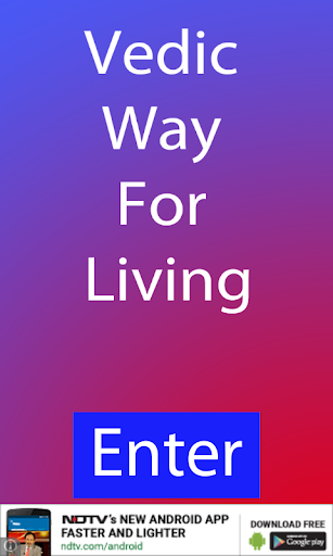 Vedic Way For Living