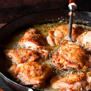 Herb Roasted Chicken in Creamy White Wine Sauce.