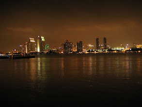 Photo: 城市夜景 night view of San Diego