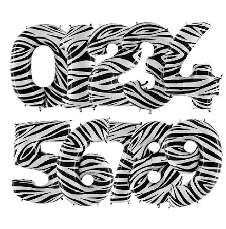 Ballongsiffra - Zebra