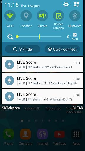 LIVE Score - KBO, EPL, MLB Real-time Score 38.2.0 Screenshots 8