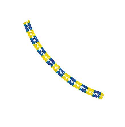 Girlang, blå/gul 6 m