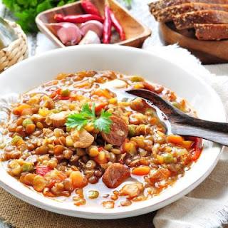 Easy Crockpot Italian Lentil Soup Recipe