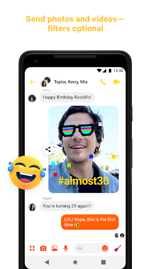 Messenger – Text and Video Chat for Free screenshot for Android