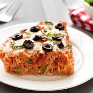 Spaghetti Squash Pizza Pie.