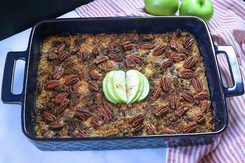 Caramel Pecan Apple Dump Cake