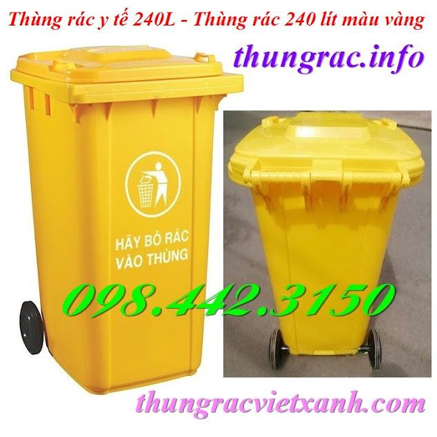 Thùng chứa rác thải nguy hại 240 lít