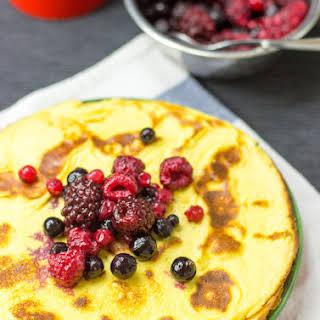 The 2 ingredient Cream Cheese Pancakes (10 Minutes, Vegetarian).
