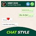 Chat Style - Stylish Font & Keyboard For WhatsApp icon