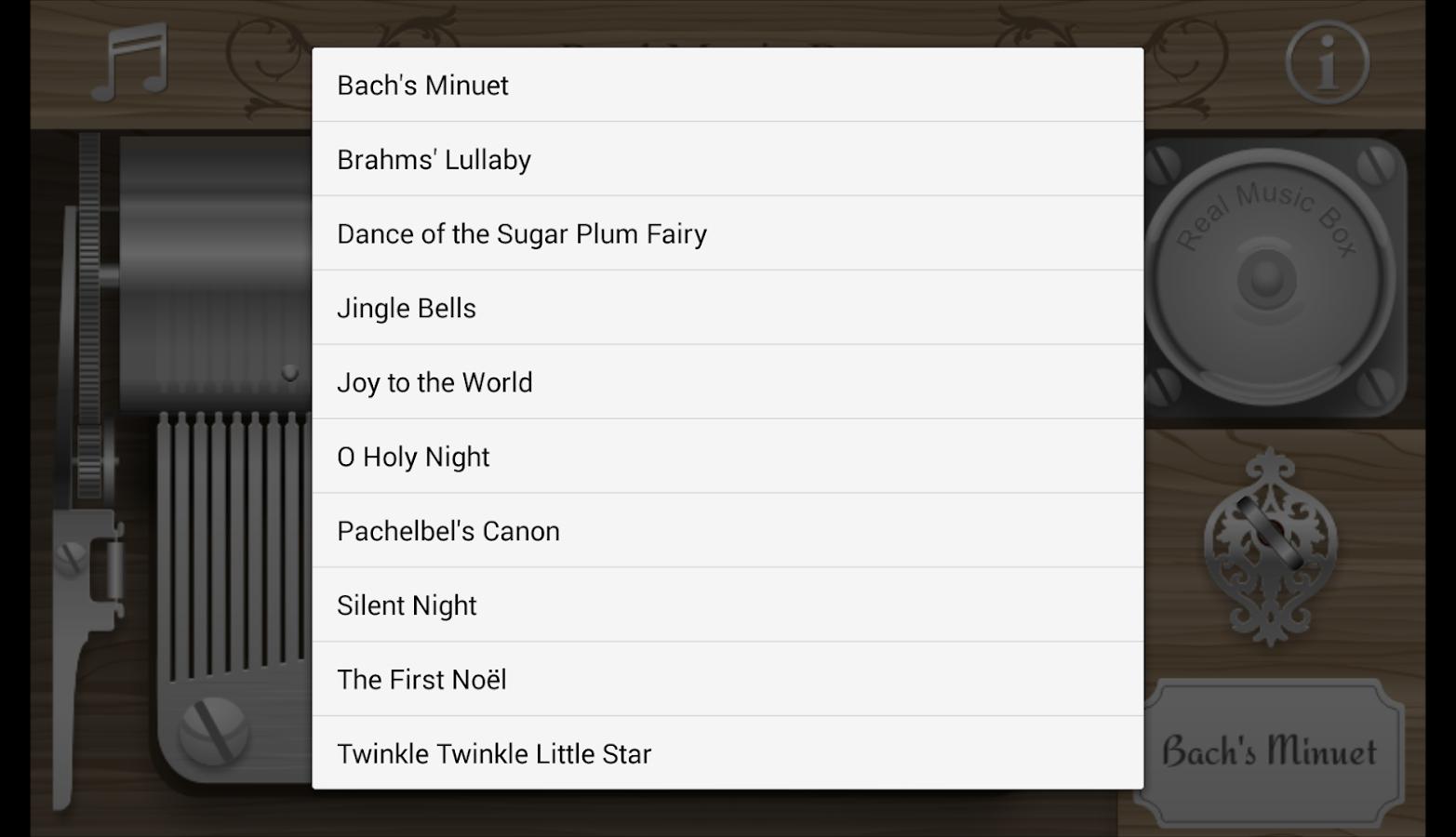 Real Music Box - screenshot