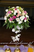 Photo: Dekoracja na salę weselną w eleganckich kielichach martini - Sala G-katering