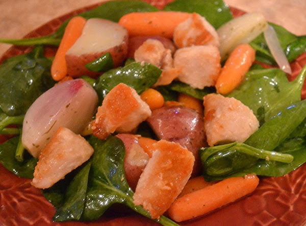 Warm Roasted Root Vegetable And Chicken Salad Recipe