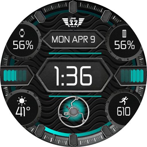 QUAD DIGITAL Color Changer Watchface WatchMaker