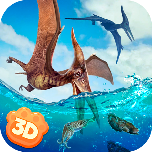 Flying Pterodactyl Wildlife 3D
