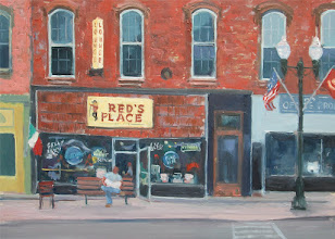 "Photo: Red's Place, 12x16"" oil, $450"