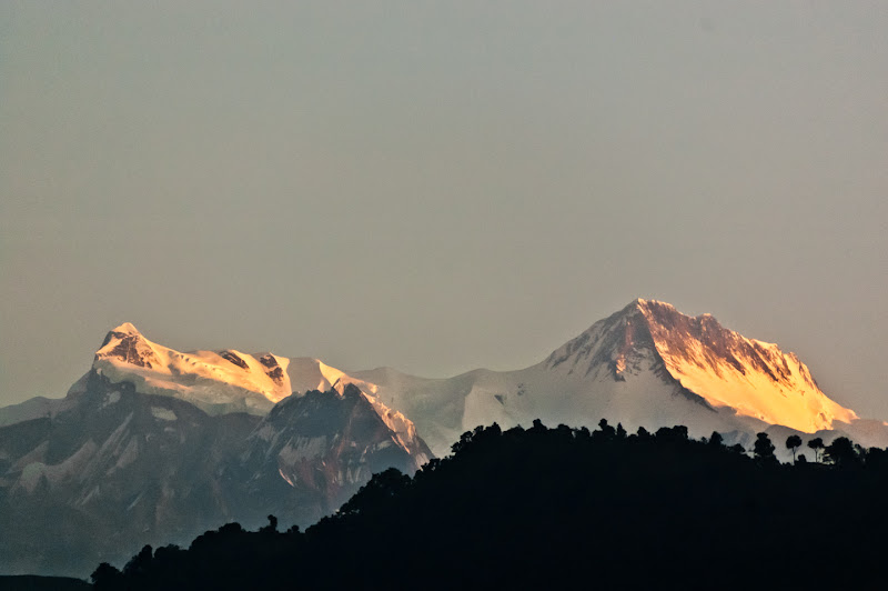 Photo: Annapurna IV (7525m) and Annapurna II (7939m), seen from Pokhara, Nepal