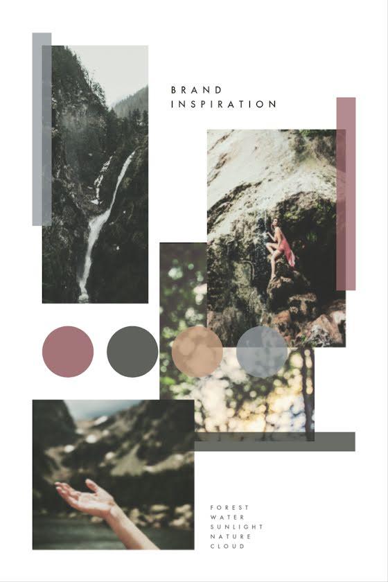Natural Brand Inspiration - Brand Board Template