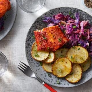 With Braised Cabbage & Lemon-Garlic Potatoes Recipe