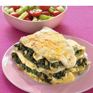 Lasagne Met Spinazie En 4 Soorten Kaas