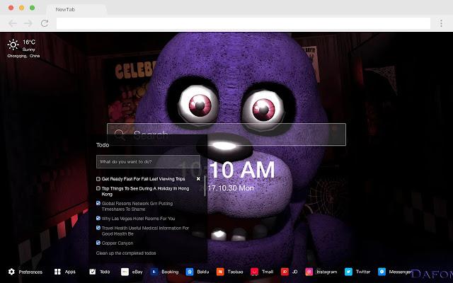 Five Nights at Freddy's HD New Tab Theme
