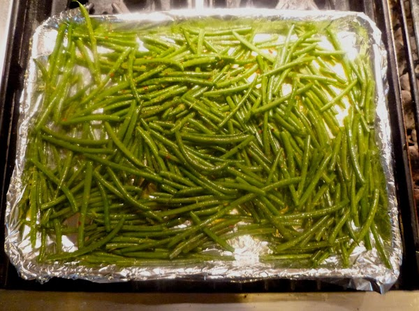 Spread green bean mixture on prepared baking sheet and place in center of the...