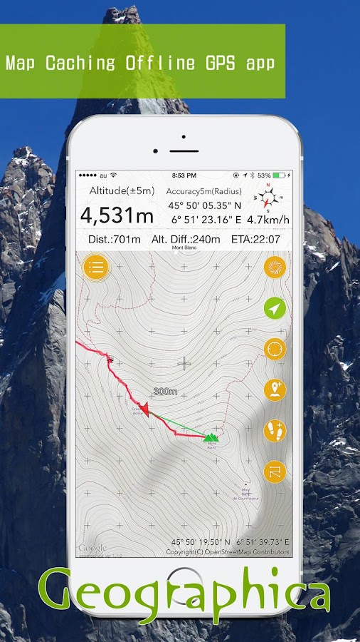 Geographica [Offline GPS APP]- screenshot