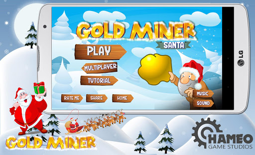 Gold miner: Santa and Reindeer