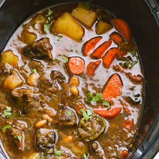 Slow Cooker Oxtail Soup.