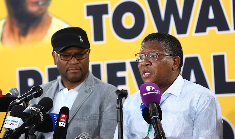 Fikile Mbalula addresses the media on the outcomes of the Organizational Renewal that was discussed by delegates at the 54th ANC National Elective Conference held at Nasrec.