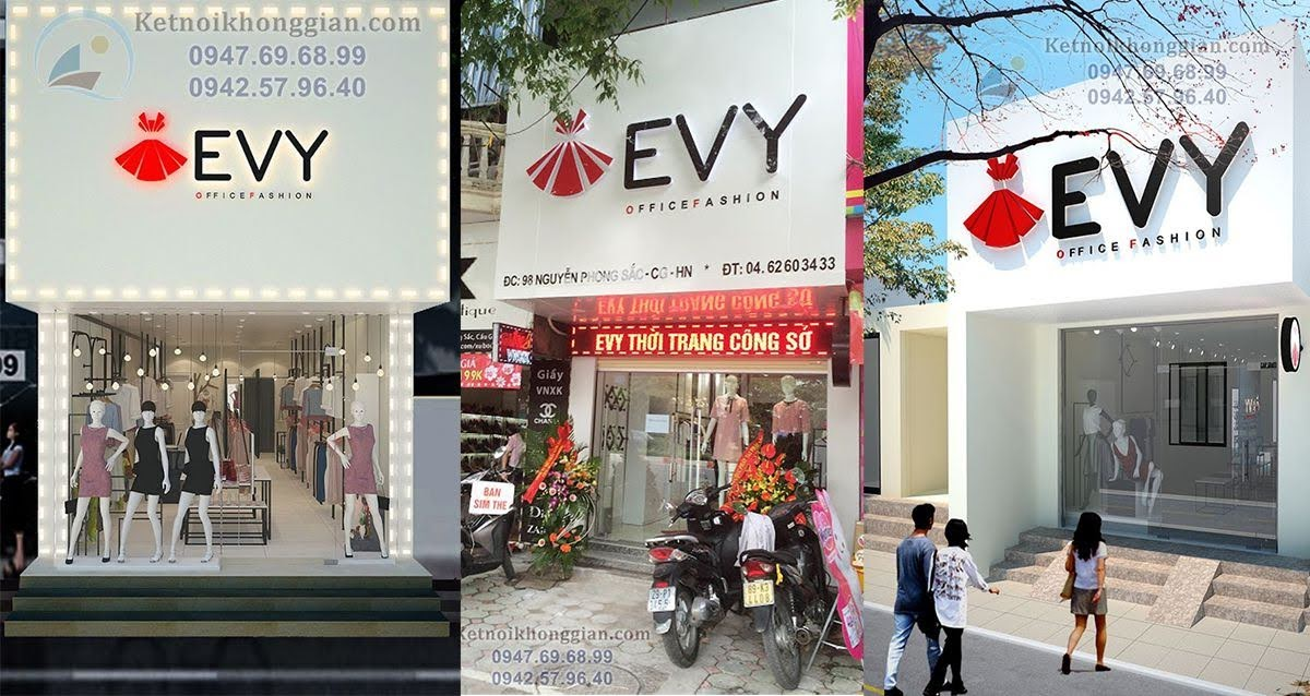thiết kế chuỗi cửa hàng thời trang
