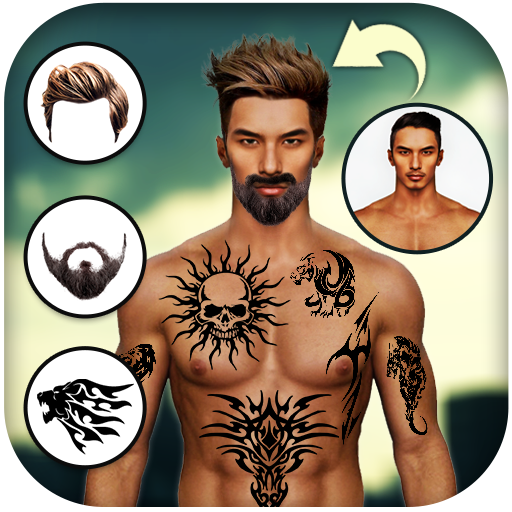 Man Tattoo & Hairstyle Editor Android APK Download Free By A Square Star
