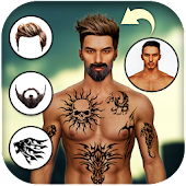 Man Tattoo & Hairstyle Editor