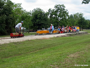 Photo: Jeff Perkins with Hot Penny meets Rich Businger with UP 9449 at Dinkey Creek Jct.    HALS Public Run Day 2013-0921 RPW