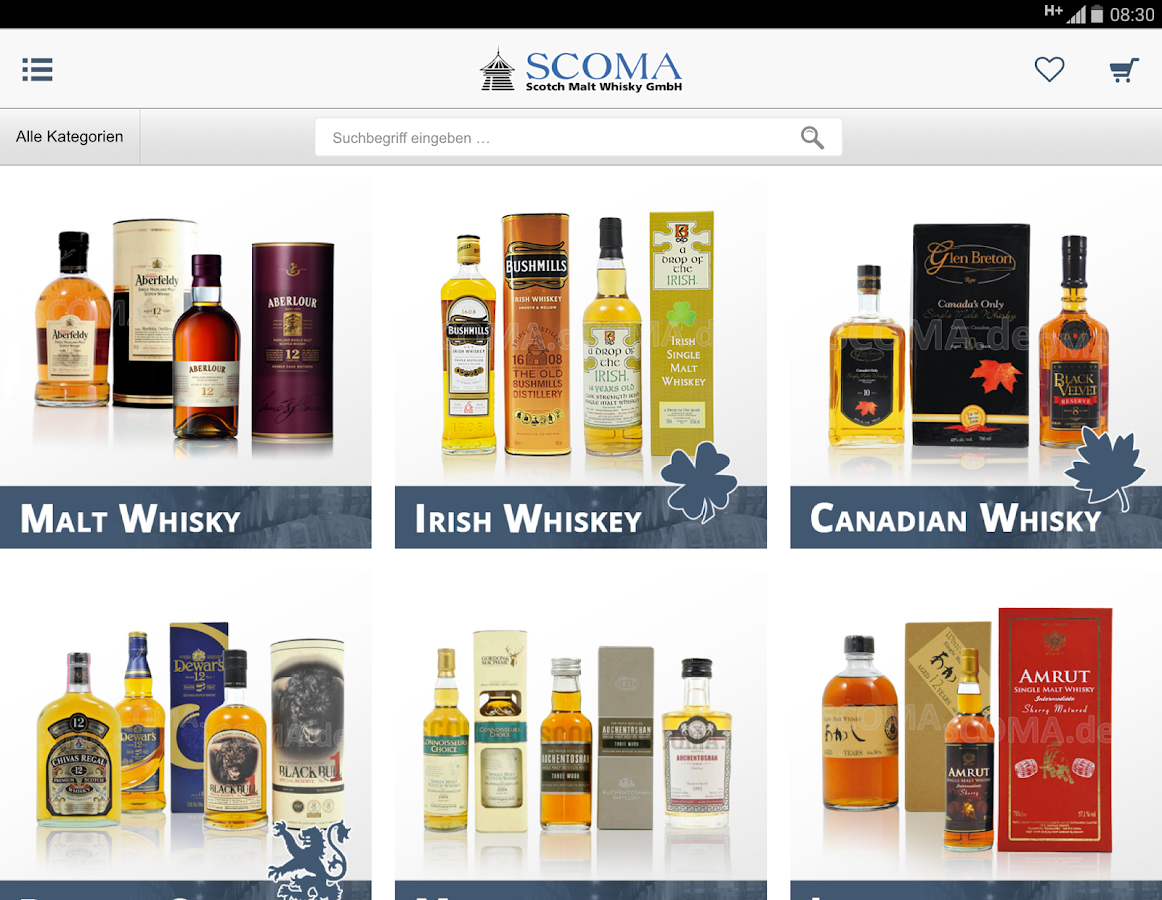 SCOMA - Whiskyversand- screenshot
