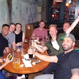 with friends celebrating a birthday at Belfast Love in Toronto in Toronto, Ontario, Canada