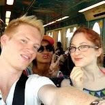 Sam, Amber and I on route to DisneySea in Urayasu, Tiba (Chiba) , Japan