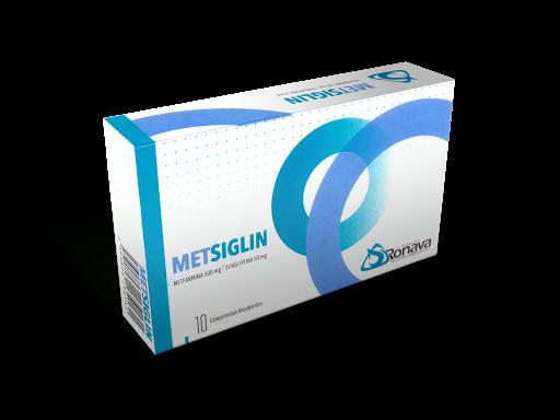 Sitagliptina + Metformina Metsiglin 500/50mg x10 Comprimidos