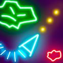 Glow Asteroids Shooter icon