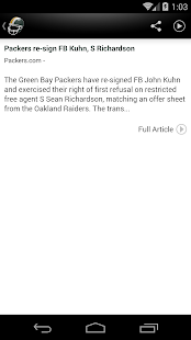 Green Bay Football News- screenshot thumbnail